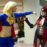 Super Girl and Harley Quinn